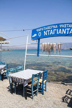 "Fish tavern ""Ntagiantas"" in Elafonissos (Laconia pref. ~ Peloponnese) http://www.elafonisos.net/ntagiantas.htm"