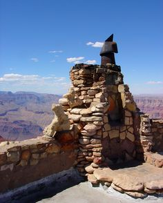 Chimney CU - Overlook Tower rooftop, Grand Canyon, AZ