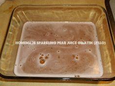 Sparkling Pear Gelatin (Jello)