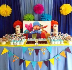Venue: Grand Villa Hotel Pateros Let's Go Pocoyo is the theme of little Nate's Birthday. The backdrop, balloon and table decors with Pocoyo and h. Baby Boy Birthday, Birthday Diy, 4th Birthday Parties, Birthday Party Decorations, Krishna Birthday, Birthday Design, Baby Party, First Birthdays, Party Ideas