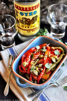 Slow cooked Greek Florina peppers