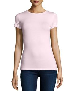Soft-Touch+Short-Sleeve+Tee+by+Majestic+Paris+for+Neiman+Marcus+at+Neiman+Marcus.