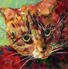 """""""Calico Attitude"""" - Original Fine Art for Sale - © Melissa Gannon"""