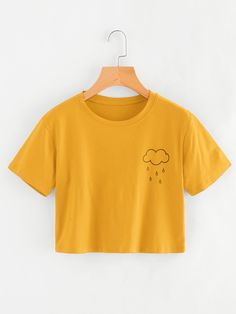 10959d3d2 Rainy Print TeeFor Women-romwe Printed Tees, Cute Shirts, Catwalk Fashion,  Latest