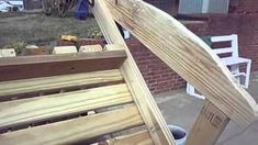 Woodworking Shows Product Woodworking Shows, Woodworking Workshop, Woodworking Plans, Adirondack Rocking Chair, Adirondack Furniture, Wooden Rack, Diy Sofa, Diy Desk, Challenges