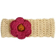 Made by Myang. Girls Winter headband - crocheted - rich cream with Coral flower. Available in month, month, and year sizes. Winter Headbands, Hand Knitting, Boy Or Girl, Winter Outfits, Ships, Coral, Vest, African, Crochet