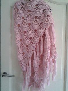 schelpen omslagdoek rose zie ook patroon deel 1 en 2