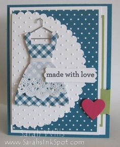 Gingham Dress Card featuring a Pull-out Recipe… | Sarahs Ink Spot | Bloglovin'