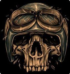 Motor Skull by on DeviantArt Day Of The Dead Drawing, Day Of The Dead Skull, Head Tattoos, Skull Tattoos, Piston Tattoo, David Mann Art, Plasma Cutter Art, Airbrush, Gothic Fantasy Art