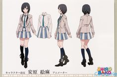 SHIROBAKO Character Model Sheets