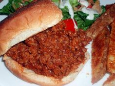 sloppy joes - fast and good - added more veggies (small diced carrots and red pepper)