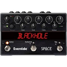 Space features 12 of Eventide's signature reverb combination effects taken from the H8000FW and Eclipse V4, along with some startling new magic! These unique effects, previously available only in Eventide rack processors, are now available in a compact, roadworthy pedal.