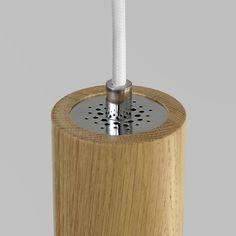 HAGI pendant lamp white metal and solid oak wood Solid Oak, Pendant Lamp, Metal, Wood, Woodwind Instrument, Swag Light, Timber Wood, Hanging Pendants, Metals