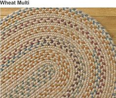 Vibrant Wool Blend Braided Rugs - Plow & Hearth