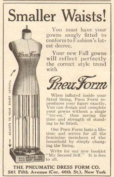 1916 antique PNEUFORM Dress Form SEWING Sew FIGURE Fashion Design AD | eBay