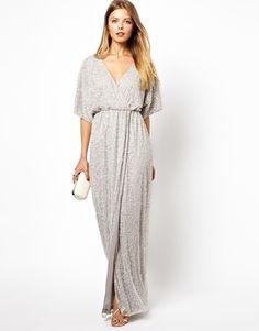 ASOS Embellished Kimono Wrap Maxi Dress