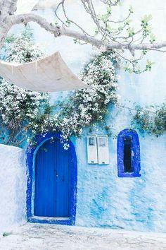 Blue enterance