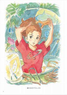 Fan-art illustration for 'The Borrower Arrietty', based on Mary Norton's 'The Borrowers' Totoro, Studio Ghibli Art, Studio Ghibli Movies, Studio Ghibli Characters, Hayao Miyazaki, Personajes Studio Ghibli, Film Manga, Anime Bebe, Secret World Of Arrietty