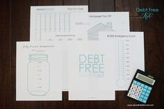 Set Financial Goals with Debt Free Kit via A Bowl Full of Lemons