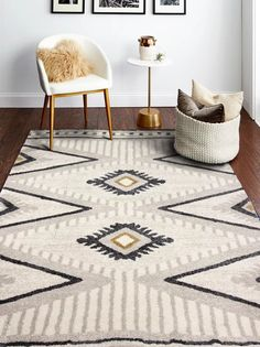 Contemporary Rugs, Modern Rugs, Unique Rugs, Southwest Rugs, Southwest Decor, Southwest Style, Aztec Decor, For Elise, Living Room Area Rugs