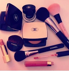 Chanel pink Ana black name up