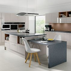 Whether you dream of a life in the rural hillside, or want to modernise your existing country retreat, opting for a country kitchen doesn't mean sacrificing a Open Kitchen, Kitchen Living, Country Kitchen, Kitchen Island, Cashmere Kitchen, Modern Country, Open Shelving, Kitchen Accessories, Kitchen Design