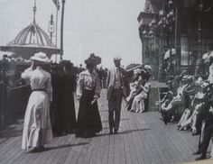 Edwardian Strolling in Sunday Best on North Pier Blackpool Museum Studies, Old Photographs, Working People, Blackpool, Working Class, The Nines, British Isles, Old Pictures, Historical Photos