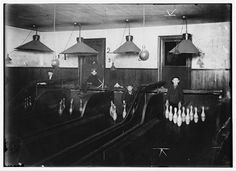 Pinboys in a Pttsburgh Bowling Alley, 1908 or 1909.