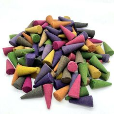 50 Incense CONES High Quality Scent Assorted Mixed Random Natural Made INDIA UK Incense Cones, Incense Sticks, Biodegradable Packaging, Biodegradable Products, Colored Smoke, Container Organization, Incense Holder, Incense Burner, Home Fragrances