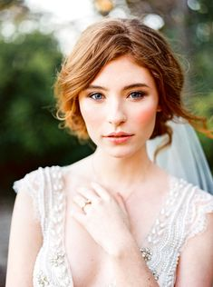 Flushed cheeks and natural eye makeup: Photography : Callie Manion Read More on SMP: http://www.stylemepretty.com/texas-weddings/dallas/2016/05/03/a-moody-spring-inspiration-session-full-of-the-prettiest-seasonal-blooms/