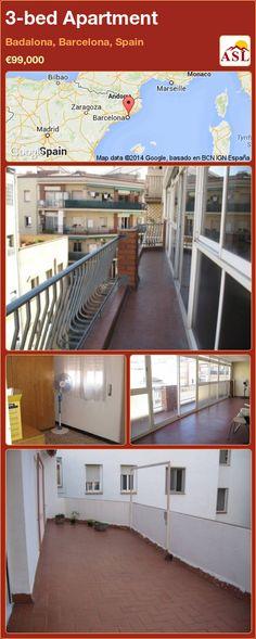 3-bed Apartment in Badalona, Barcelona, Spain ►€99,000 #PropertyForSaleInSpain