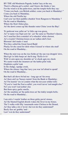 poetry report mandalay by rudyard kipling