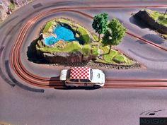 Fiat Abarth 1000 (1/32 scale) #scalextric #slot #slotcar #slottrack #slotcartrack #circuito #rennbahn  #maqueta #portable  #forsale  #scalemodel #modelismo #modelism #handmade #paint #airbrush #aerografo #landscaping #rally #cars #wrc #wec #paintwork #mountain #montaña #tree #arbol #arbre #diy #doityourself #entrepreneur #custom #artisan #woodart #art #carart #maqueta #madera #handmade #hechoamano #woodwork #fetama #iat #abarth #1000 #abarth1000 #seat600 #seat #600 #lake #lago #llac Slot Car Tracks, Slot Cars, Handmade Paint, Fiat Abarth, Radio Control, Car Ins, Scale Models, Trees, Woodworking