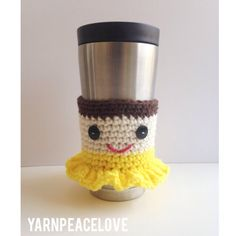 Belle Inspired Travel Cup Sleeve-CraftPeaceLove