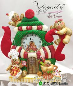 Christmas Time, Christmas Crafts, Christmas Decorations, Christmas Ornaments, Holiday Decor, Gingerbread Man, Jingle Bells, Clay Crafts, Yule