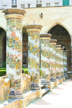 A view from the courtyard of Santa Chiara Cloister in Naples, province of Naples, Campania region itly