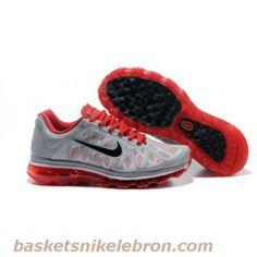 best service a9149 9d388 Air Max Homme Nike Air Max 2009 V-Gris-Noir-Rouge - Hommes