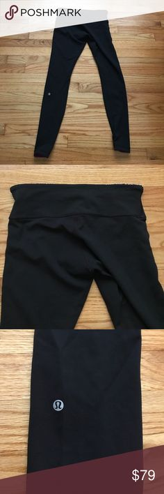 Lululemon reversible Wunder Under in black & plum Lululemon reversible size 8 Wunder Unders in black/regal plum/miss mosaic black.  In excellent used condition.  Cover photo from Lululemon Fanatics website. lululemon athletica Pants Leggings