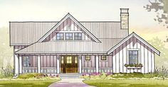 Seagull Coastal Cottage Architecture 3 beds baths 2597 SQ/FT Front Elevation Online house plans and custom, luxury home plans. Farmhouse Plans, Farmhouse Design, Modern Farmhouse, Farmhouse Front, Cottage Design, Farmhouse Style Homes, Country Farmhouse Exterior, Cottage House Designs, Coastal Farmhouse