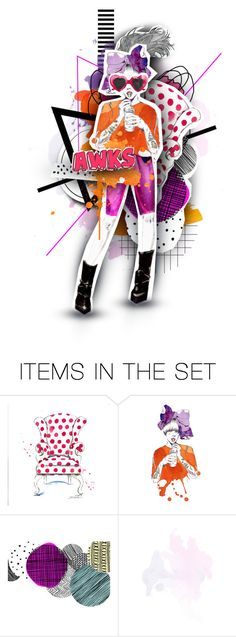 """Illustrated Illustration"" by medamisra ❤ liked on Polyvore featuring art"