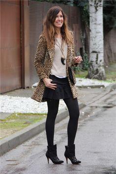 Mayte Gálvez, del blog 'Mytenida', con abrigo leopardo