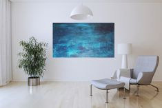 Original Abstract Painting by Ivana Olbricht Blue Painting, Texture Painting, Oil Painting On Canvas, Painting Frames, Your Paintings, Original Paintings, Abstract Paintings, Large Canvas Wall Art, Minimalist Painting