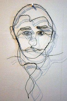 Heather Brosman - Studio Art – Wire SelfPortraits