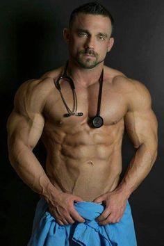 Hello Doctor, Remove Your Pants If You'd Like. Hot Men, Hot Doctor, Men Dress Up, Playing Doctor, Male Cosplay, Men In Uniform, Muscular Men, Big Guys, Good Looking Men
