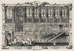 REIMS 1722 -- Le Sacre de Louis XV, Roy de France & de Navarre, dans l'Eglise de Reims, Le Dimanche XXV Octobre MDCCXXII. [Paris, 1722?].