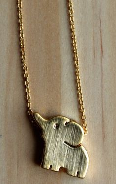 Gold Baby Elephant Necklace
