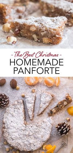 Panforte is a delicious Italian fruit cake from Siena, made with honey, nuts and candied fruit. The perfect Christmas cake to share with friends and family. Try this easy Christmas dessert recipe over the holidays! #panforte #Italiancake #fruitcake #Christmascake Christmas Desserts Easy, Easy No Bake Desserts, Fancy Desserts, Delicious Desserts, Dessert Recipes, Italian Almond Cookies, Flat Cakes, Tart Taste, Candied Fruit