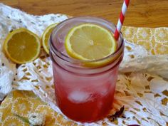 Hibiscus cooler with vodka and st germain