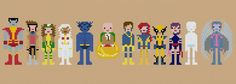 Pixel People Patterns for cross-stitch X-Men! Available at the weelittlestitches shop on Etsy.com.