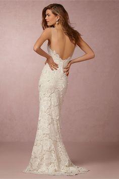BHLDN Jolie Gown in  Bride Wedding Dresses Back Detail at BHLDN